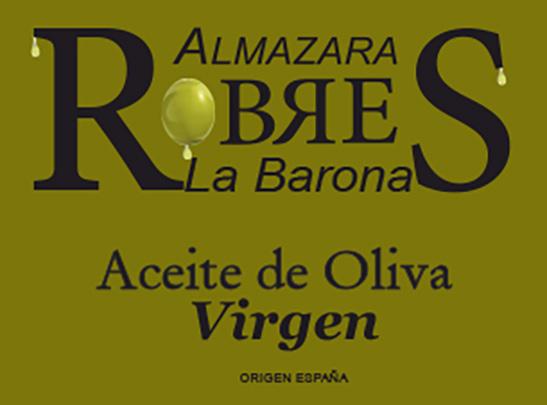 robres etiqueta marron aceite virgen