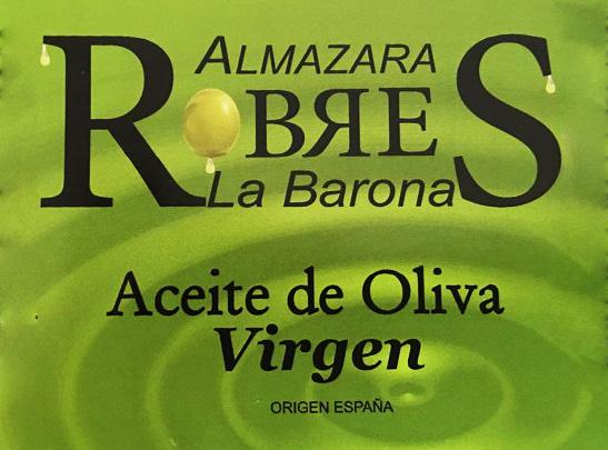 Robres etiqueta verde aceite virgen